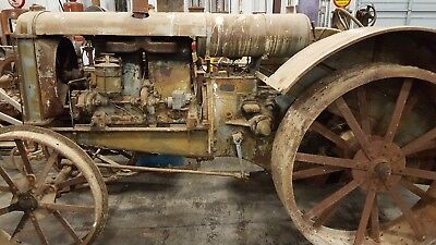 Old antique 17 28 twin city tractor Minneapolis Moline Steel Wheels Should Run