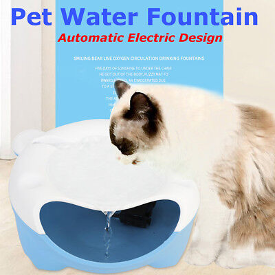 Automatic Electric Pet Water Fountain Dog & Cat Drinking Bowl Tank Drinker 220V
