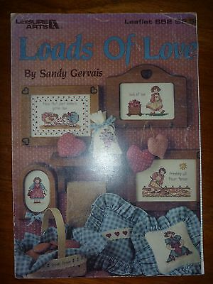 Leisure Arts Leaflet 852-Cross Stitch Pattern-Loads Of Love-By Sandy Gervais