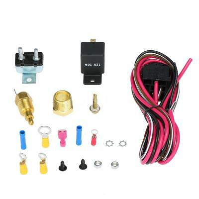 185-170 Degree Electric Cooling Fan Wiring Install Relay Kit Thermostat NEW A0R1