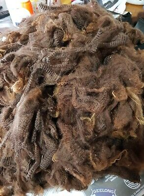 1.080KG SOFT COLOURED WOOL FLEECE 'tippy' SPINNING CARDING FELTING WEAVING