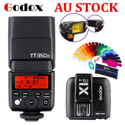 Godox 2.4G GN36 TTL HSS TT350C Mini Flash Speedlite + X1T-C Trigger for Canon AU