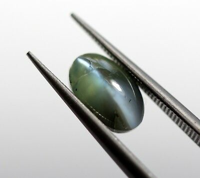 1.40 Ct Natural Alexandrite Cats Eye Loose Blue Chatovancy No Heat 7*4 MM Size