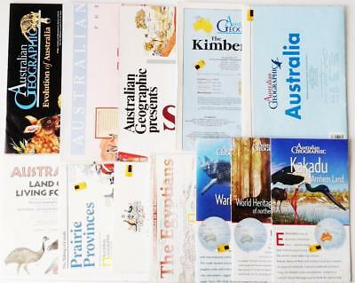 COLLECTION AUSTRALIA NATIONAL GEOGRAPHIC MAPS & POSTERS x 12 different themes
