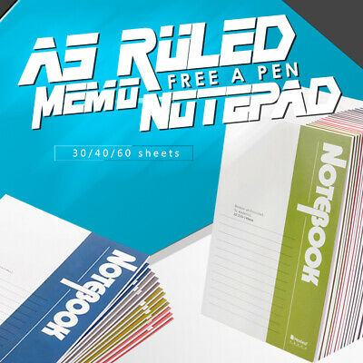 A5 Ruled Notebook Journal Diary Notepad Memo Planner Stationery+ 1 Pen