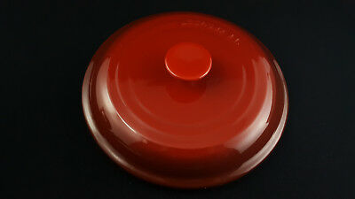 cherry red Le Creuset Enameled Cast Iron Lid 7 1/2 inches France