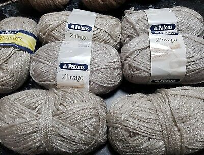 350Gr Patons Zhivago,silver Grey, 8Ply Wool Knitting Crochet Craft  'reduced'!
