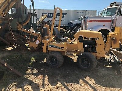 Vermeer Rt450 Trencher Ride On Diesel 676 Hours 6 Way Blade Ready To Work