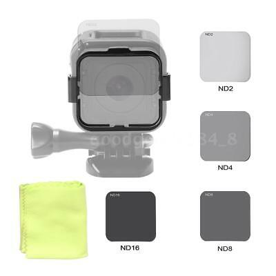 ND Filter Kit Lens Protector + Adapter for GoPro Hero4 Session Sport Camera E1E2