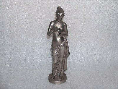 Vintage/Antique Metal Figurine Figure Statue Of Ancient Nude Woman, Signed -