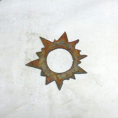 """Lot of 4 Sun Shapes 3"""" Rusty Metal Vintage Ornament Craft Sign Wind Chime"""