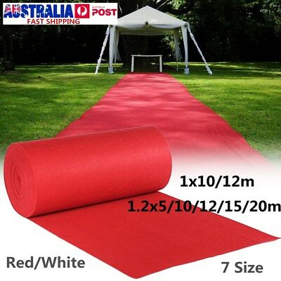 7 Size Red White Large Carpet Wedding Aisle Floor Runner Hollywood Party Decor