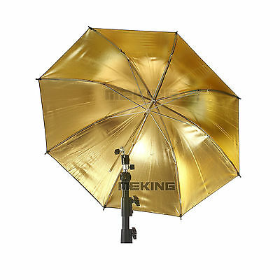 "Metal Frame 84cm 33"" Gold Black Umbrella Reflecter Studio Vedio Flash Diffuser"