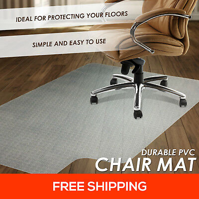 New Hard Floor Chair Mat Vinyl Protector Plastic Office Work Home PVC 1500x900mm