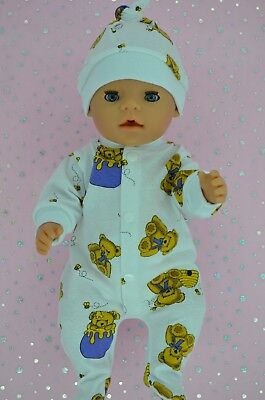 """Play n Wear Doll Clothes For 17"""" Baby Born PATTERNED STRETCH AND GROW~HAT"""