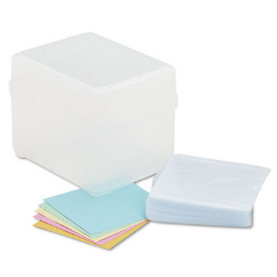 Innovera CD/DVD Storage Bx, Holds 100 Discs, Clear