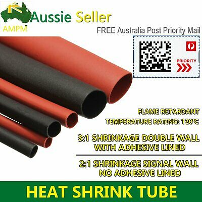 2:1 / 3:1 Ratio Heat Shrink Tube Double Wall Wrap Wire Cable Insulation Sleeving