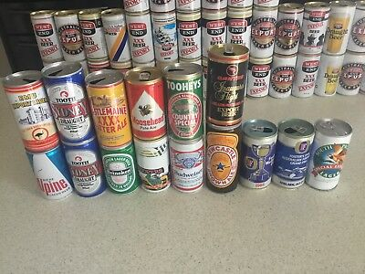 vintage beer can collection. 70 +