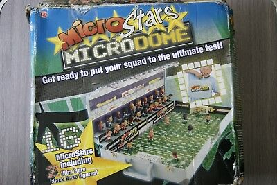 Microstars Microdome Case With 19 Figures Backdrop Goals Etc Free Uk Postage