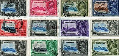 commonwealth stamps, george v silver jubilee