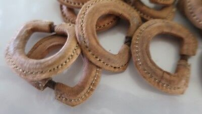 """D Ring cover on leather Light Brown 15mm (1/2"""")"""