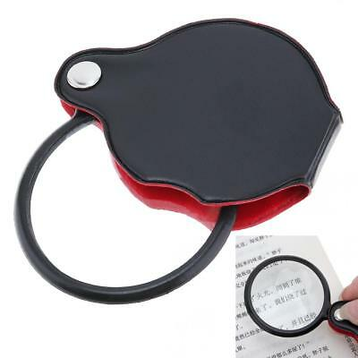 8X Magnification Optical Glass Mini Collapsible Portable Pocket Magnifier