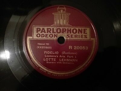 Fidelio (Leonore'a Aria Part 1 & 2 Beethoven) Parlophone Odeon Series R20053