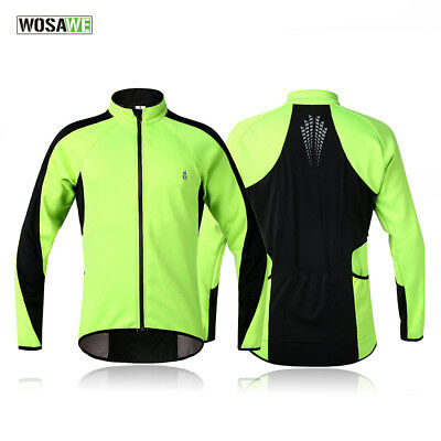 Winter fleece windproof warm jacket cycling sports shirt jersey Coat Bicycle