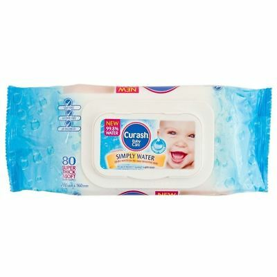 Curash Baby Water Wipes Pure & Gentle - 80 Wipes