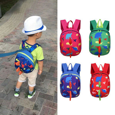 Cartoon Baby Toddler Kids Dinosaur Safety Harness Strap Bag Backpack UK Seller