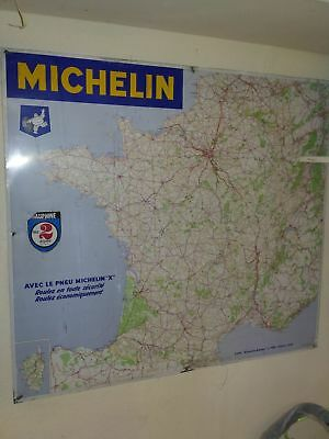 Grande plaque carte de France MICHELIN 1968