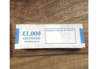 NEW NOTES £10 note money bands UK currency straps holds 100 Notes