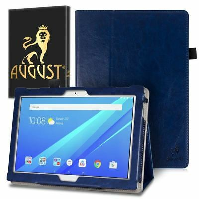 Genuine August® Dark Blue Luxury PU Leather Smart Case Cover For Lenovo Tab 4 10