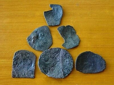 Lot of 6 Ancient Byzantine Medieval Cup Coins Unknown / Low quality