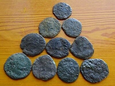 Lot of 10 Ancient Roman Bronze Coins 3rd Century AD Very Rare