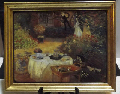 Bradex Ceramic Framed Tile Das Frühstück 'Breakfast' Claude Monet Ltd Ed 3356