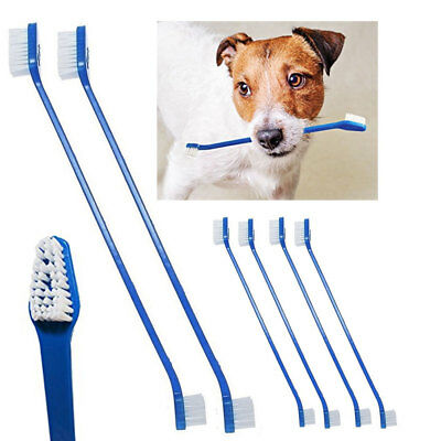 6 Pc Dog Toothbrush Dual End Puppy Dental Grooming Dental Care Cleaning Theeth