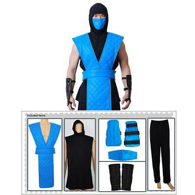 Mortal Kombat  Sub-Zero-Cosplay Costume  Mask for Adult Men-Free shipping