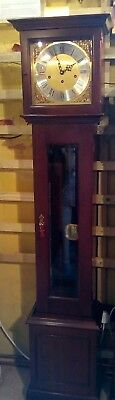 granddaughter clock, spring and pendulum movement, Westminster chimes,