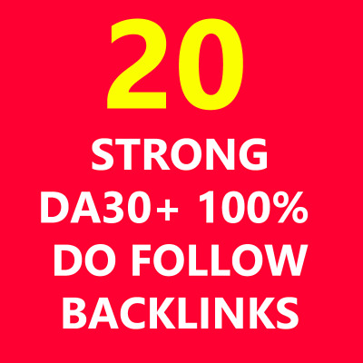Backlinks Links HIGH DA30+ 100% Do Follow Get Seo Best PA Pr9 PR Google Website