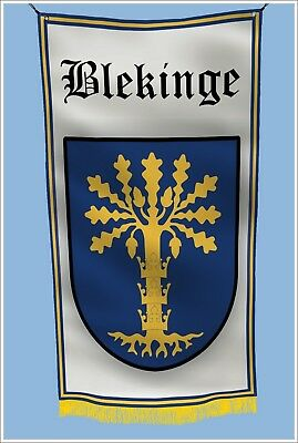 Angermanland Sweden COAT OF ARMS Garage Hangar Basement Flag 3x5 Feet