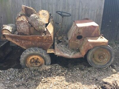 1 ton (1.5 C.W.T) dumper. Reliable old work horse. Lister engine.
