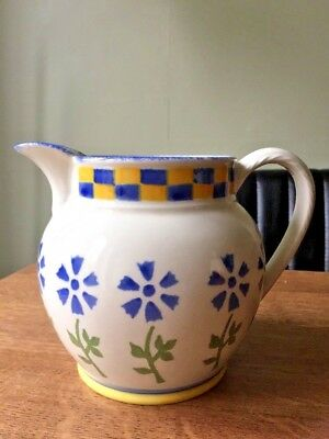 Laura Ashley Annabel large Sponge-Ware Jug Floral Hand Decorated Excellent Jug