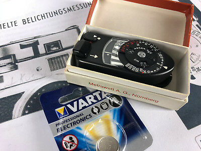 !!! Leica Meter MR Leitz Belichtungsmesser  - Light Meter schwarz black boxed !
