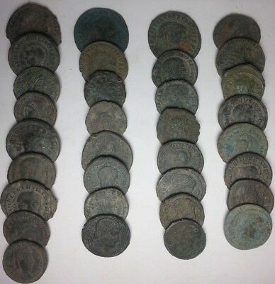 Lot of 33 Roman Bronze Coins