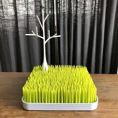 Boon Grass Drying Rack Twig Lot Of Two Bottles Nipples Clean Kitchen