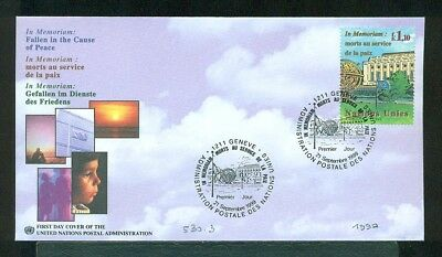 530 - Lot De 17 Courriers Fdc Nations Unies United Nations 90/91/92/93/94/
