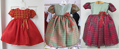 Girls Red Dress - Lot Of 3 - Size 1 - 12Mth