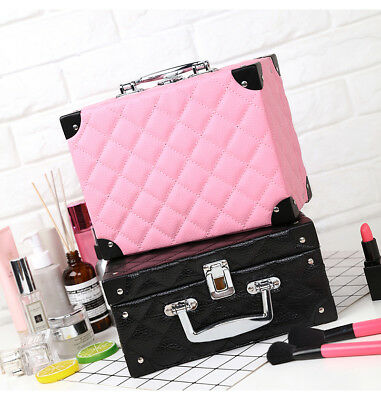 Women's Portable Travel Cosmetic Case Box Professional Beauticians Makeup Bags