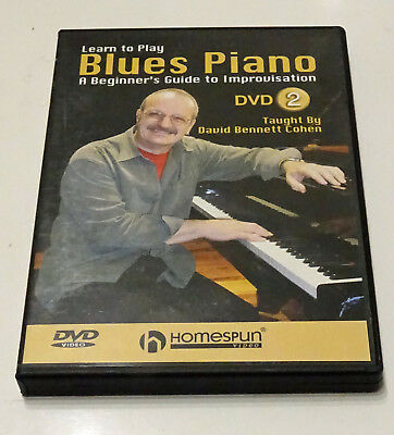 BLUES PIANO DVD. Beginners Guide to Improvisation Teil 2. Englisch. Sehr gut.